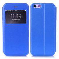Forcell - Etui livre fenêtre bleu pour Apple iPhone 6 et 6S