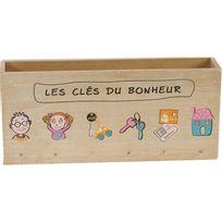 Touslescadeaux - Porte Lettres Mural range courrier Porte clés - En Bois