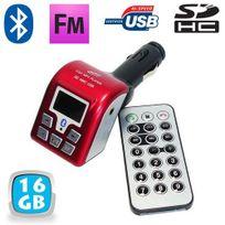 Yonis - Transmetteur Fm Bluetooth Usb kit main libre voiture 16 Go