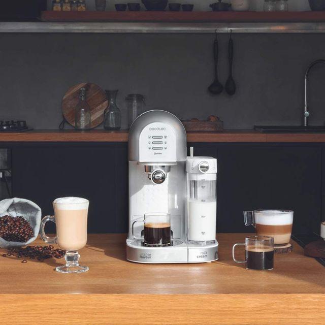Cecotec machine à café semi-automatique de 1,7L 1470W gris blanc