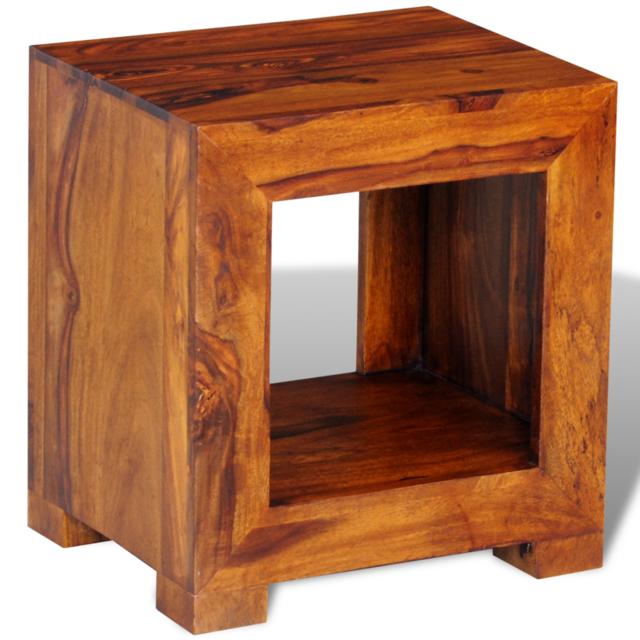 Vidaxl Table basse d'appoint en palissandre massif 37 x 29 40 cm
