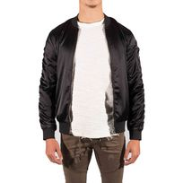 Project X - Bomber Satin Homme Paris 88173318, Taille: L, Couleur: Noir