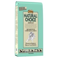 Nutro Natural Choice - Croquettes Digestion Sensible au Poulet et Riz pour Chien Adulte - 12Kg