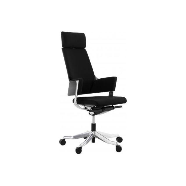 Kokoon Design Chaise de bureau ergonomique tissu noir Silko