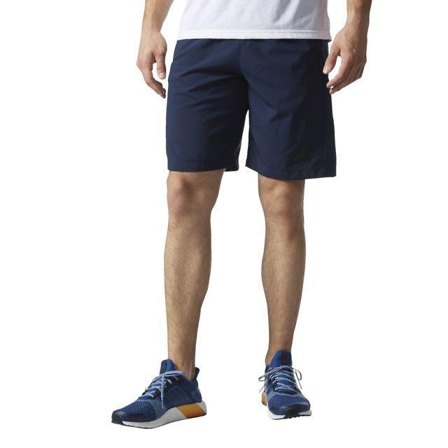 c7384d01334 Adidas performance - Short de sport D2M Woven Short - pas cher Achat    Vente Short homme - RueDuCommerce