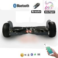 Cool&FUN Hoverboard Bluetooth Tout terrain, gyropode 8.5 pouces Model Hummer-board Vert militaire
