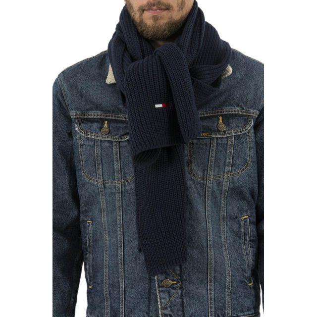 e088d4667da6 Tommy hilfiger - Echarpe tommy jeans au0au00288 bleu - pas cher ...