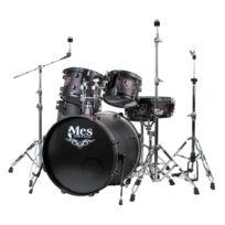 Mes - Black Fusion set de batterie, satin noir/rouge