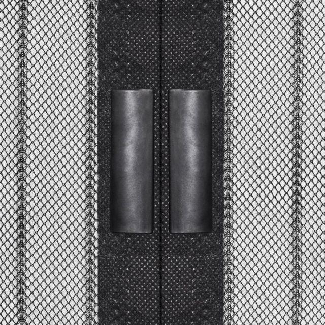 2 pces avec fermeture magnétique Protection insectes Rideau magnétique noir