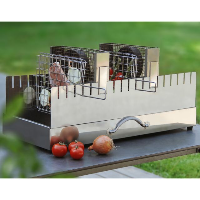 Bbq Nordic - Barbecue charbon vertical 18 personnes 4 grilles + 2 ...