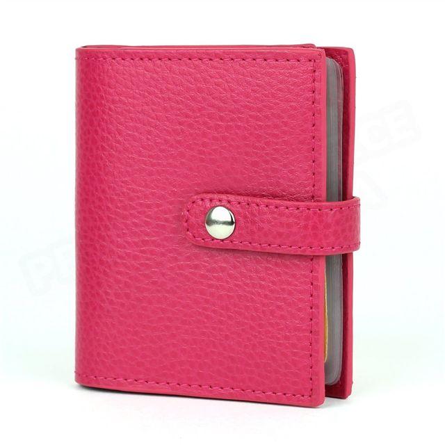 Volumica - Porte 24 cartes cuir Rose-fuchsia Beaubourg - pas cher Achat    Vente Porte-cartes - RueDuCommerce 1efbddc738f
