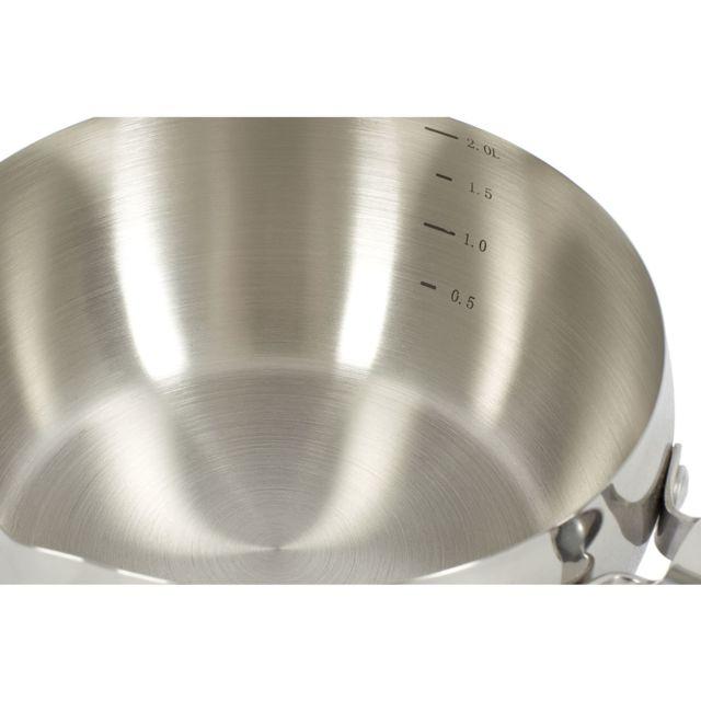 Gamhotel - Lot 4 casseroles bombées inox Qualité Pro