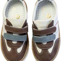 Chaussures en cuir SST 010 21 Brown and Cream 9sR4Z
