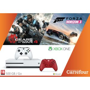 microsoft pack exclu xbox one forza horizon 3 gears of war manette rouge pas cher achat. Black Bedroom Furniture Sets. Home Design Ideas