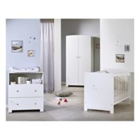 Commode bébé LITTLE STAR - Blanc