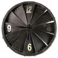 Deco Chine - Pendule en métal Vintage 80 x 80 cm - à suspendre