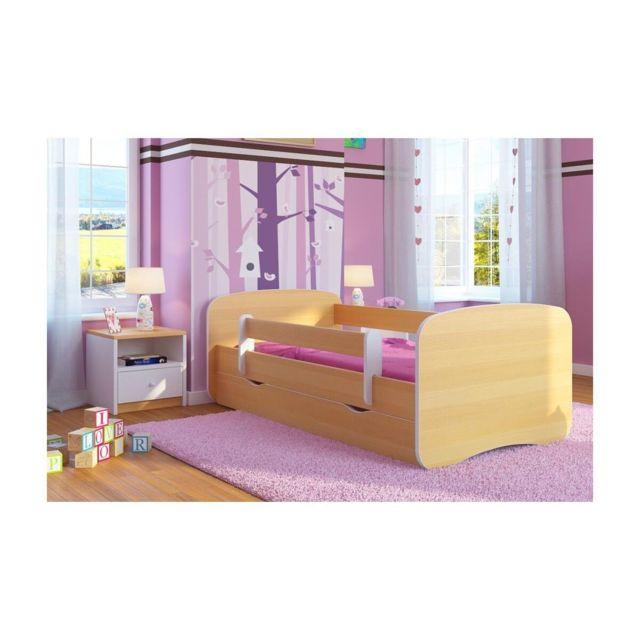 carellia lit enfant 80 cm x 160 cm avec barriere de. Black Bedroom Furniture Sets. Home Design Ideas
