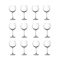 Libbey - Claret Lot de 12 verres a vin 19 cl transparent