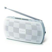 SONY - Radio portable avec entrée audio pour lire vos mp3 - Blanc - SRF-18