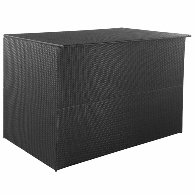 Vidaxl Boîte de rangement de jardin Noir 150x100x100 cm Résine tressée