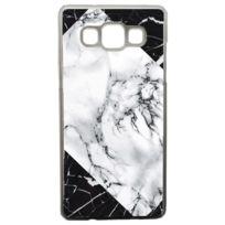 Lapinette - Coque Rigide Graphique Marbre Blanc Et Noir Pour Samsung Galaxy A5