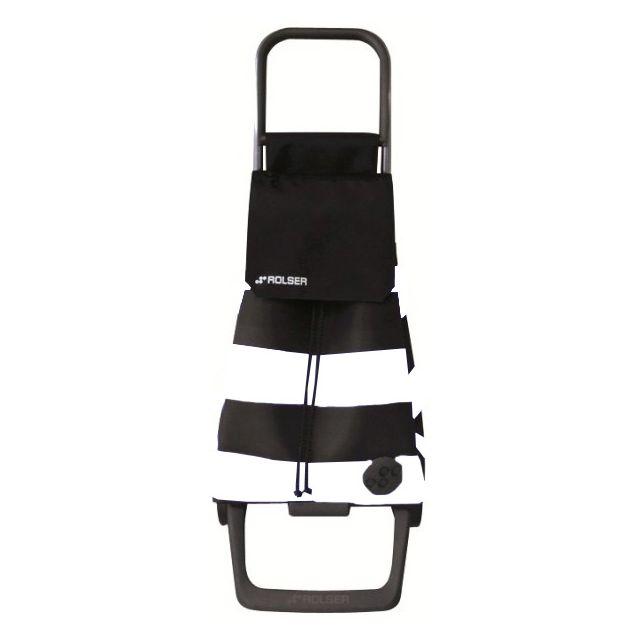ROLSER - poussette de marché 2 roues 48l noir et blanc - bab003 b/n blanc/noir