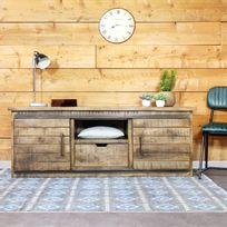 Made In Meubles - Meuble Tv industriel en bois vieilli | If626A