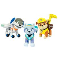 PAW PATROL - Pack 3 figurines sac a dos transformable 4 everest, robot-chien, ruben 6026091