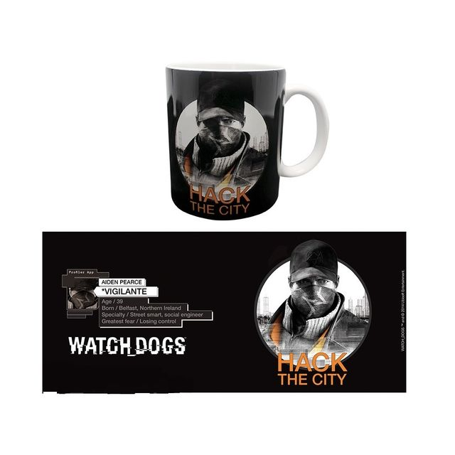 Sans Marque Watch Dogs Mug Hack The City