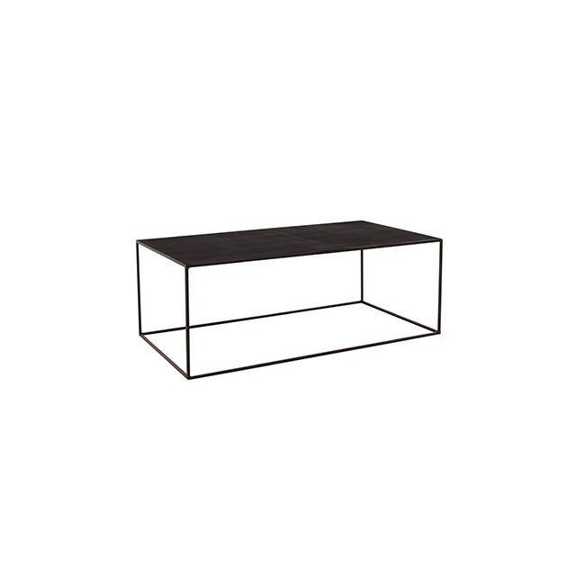 Table basse 110x60x40cm en métal noir - Charlton