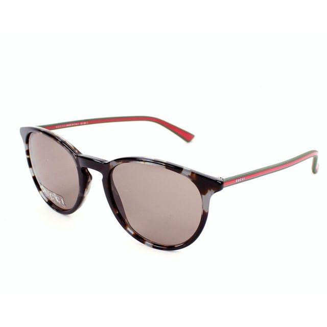09e1f78b3b26 Gucci - Gg 1102 S Gymco Marron havane - Rouge - Lunettes de soleil - pas  cher Achat   Vente Lunettes Tendance - RueDuCommerce