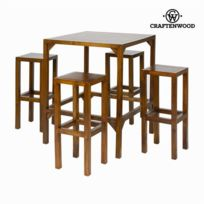 Craftenwood - Table haute avec 4 tabourets - Collection Franklin by