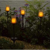 Smart Solar - 2 décorations solaire bougies sur tige