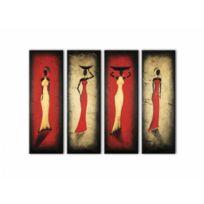 Deco Soon - Tableau Peinture Déclinaison de femmes africaines