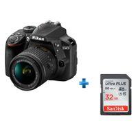 NIKON - appareil photo reflex - d3400 + objectif 18-55 + Carte SDHC Ultra 32 Go