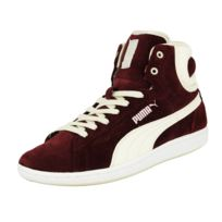 Puma - Wns Cross Shot Chaussures Mode Sneakers Femme Cuir Suede Rouge