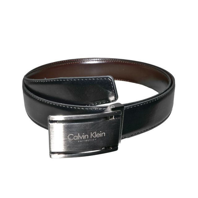 b2981ebb5995 Calvin Klein - Ceinture - D22 - Homme - Cuir - Noir Marron - Taille Unique  - pas cher Achat   Vente Ceinture homme - RueDuCommerce