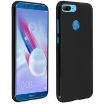 Avizar - Coque Honor 9 Lite coque silicone gel protection souple Dos Antitraces Noir