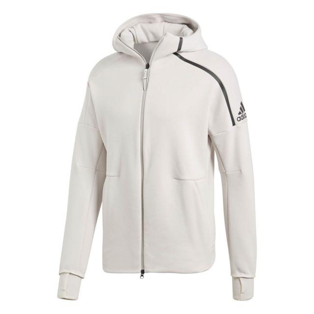 Adidas Veste Zne Hoody 2 Blanc Homme pas cher Achat