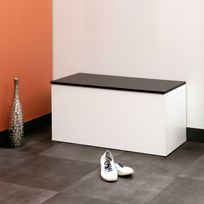 Marque Generique - Meuble à chaussures / Banc 15 paires Longueur 89 cm Aldo