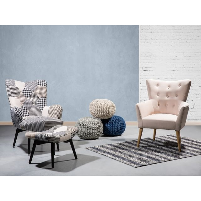 Beliani Fauteuil de salon - fauteuil en tissu beige - Angen