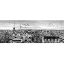 Declikdeco - Toile imprimée panoramique polyester sur chassis Paris 140x50cm City