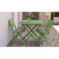 Salon de jardin vert - catalogue 2019 - [RueDuCommerce - Carrefour]