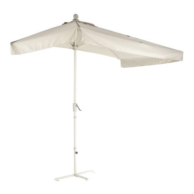 carrefour demi parasol pour balcon m tal gris sable. Black Bedroom Furniture Sets. Home Design Ideas