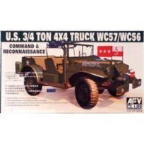 Afv Club Maquettes et Accessoires - Maquette U.S. 3/4 Ton 4X4 Truck Wc57/WC56