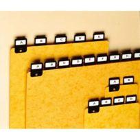 Val-Rex - Jeu de 25 intercalaires avec onglet métallique pour boîte à fiches Format A6 en hauteur