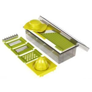 secret de gourmet mandoline verte multifonction 11 pi ces pas cher achat vente ustensile. Black Bedroom Furniture Sets. Home Design Ideas