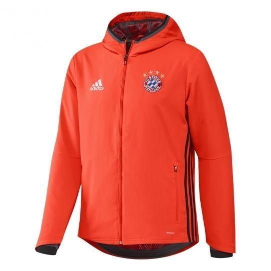 Adidas performance - Veste Fc Bayern Munich Fluo Red h16 - pas cher Achat    Vente Manteau homme - RueDuCommerce 8c556344066c