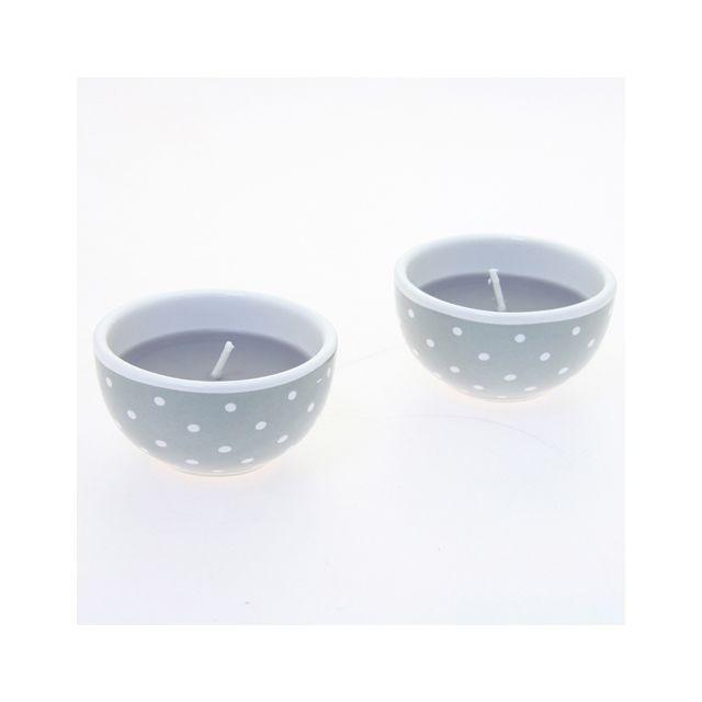 Comptoir Des Bougies Lot de 2 bougies avec imprimés motif étoiles - Lilas foncé