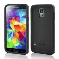 Mols - Coque antichoc noire avec protecteur d'écran pour Samsung Galaxy S5